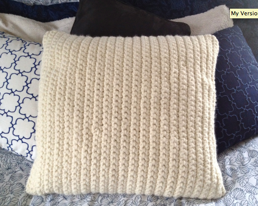 Crafty Craftiness Crocheted Pillow Cover I Could Do A Lot In Simple How To Crochet A Pillow Cover